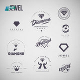 Vector flat jewelry logo isolated on white background. Royalty Free Stock Images