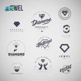 Vector flat jewelry logo isolated on white background. royalty free illustration