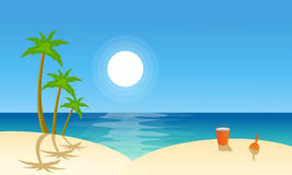 Vector flat landscape beach collection Royalty Free Stock Images