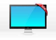 Vector flat lcd monitor, led tv screen. Stock Photography