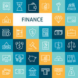 Vector Flat Line Art Modern Finance Money and Banking Business I Stock Photography