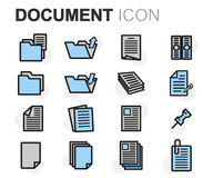 Vector flat line document icons set Royalty Free Stock Images