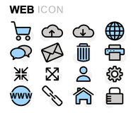 Vector flat line web icons set Stock Image