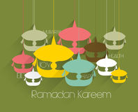 Vector Flat Malay Wau (Moon Kite) Graphics. Royalty Free Stock Photography
