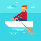 Vector flat male character Stock Image