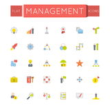 Vector Flat Management Icons Stock Photos