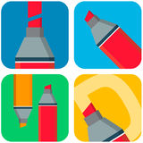 Vector flat marker icon Stock Photography