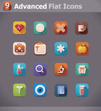 Vector flat medicine icons vector illustration