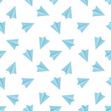 Vector flat minimalistic paper planes seamless Stock Photos