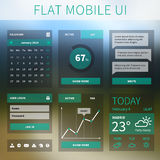 Vector flat Mobile Web UI interface Royalty Free Stock Photography
