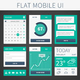 Vector flat Mobile Web UI interface Royalty Free Stock Photo