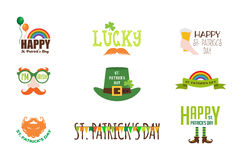 Vector flat modern creative concept design on Saint Patricks Day party. party invitation design elements Royalty Free Stock Photo