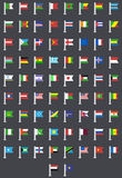 Vector flat modern flags of the world. This is file of EPS10 format Royalty Free Stock Image