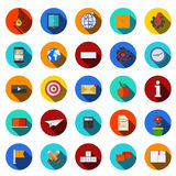 Vector flat modern icons set. Royalty Free Stock Photography