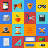 Vector flat modern icons set. Eps 10 Stock Photography