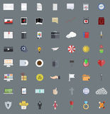 Vector flat modern icons set, Eps 10 Royalty Free Stock Photography