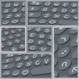 Vector flat modern keyboard, alphabet buttons. Material design Royalty Free Stock Photography