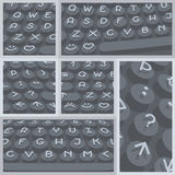 Vector flat modern keyboard, alphabet buttons. Material design Royalty Free Stock Images