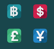 Vector  flat money icons set Royalty Free Stock Photos