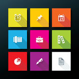 Vector flat office icon set Royalty Free Stock Images