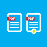 Vector flat PDF file icon and pdf download icon Royalty Free Stock Photos