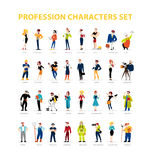 Vector flat people portraits collection isolated on white background. Royalty Free Stock Images