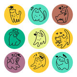 Vector flat pet logo. Stock Photography