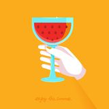 Vector flat poster - enjoy the summer Royalty Free Stock Images