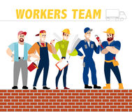 Vector flat profession characters. Stock Photos