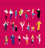 Vector flat profession characters. Royalty Free Stock Photo