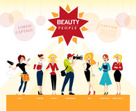 Vector flat profession characters. Royalty Free Stock Photos