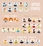 Vector flat profession characters. Royalty Free Stock Photography
