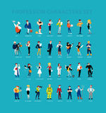 Vector flat profession characters. Human icon. Profession icon. Friendly people icon. Woman icon. Lady icon. Man icon. Girl icon. Boy icon. Icon set Stock Photography