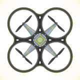 Vector flat quadcopter drone illustration Stock Photography