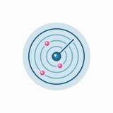 Vector flat radar icon Stock Images