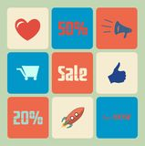 Vector Flat Sale Icons Royalty Free Stock Photography