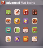 Vector flat school icons Royalty Free Stock Image