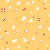 Vector flat sea design seamless pattern Royalty Free Stock Photography