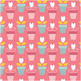 Vector flat seamless patterns Royalty Free Stock Photography