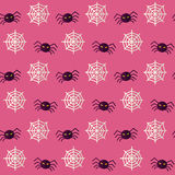 Vector Flat Seamless Scary Spider Halloween Pattern Royalty Free Stock Image