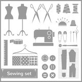 Vector flat sewing icons set Stock Photo