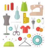 Vector flat sewing set Stock Image