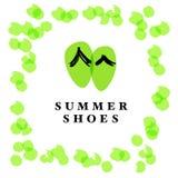 Vector flat shoe store logo design. Royalty Free Stock Photos