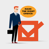Vector flat simple friendly businessman character. Royalty Free Stock Image