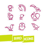 Vector flat simple minimalistic bird logo. Royalty Free Stock Photos
