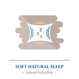 Vector flat sleep icon. Royalty Free Stock Photography