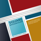 Vector flat squares design cover Royalty Free Stock Images
