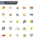 Vector flat statistics icons set Stock Photos