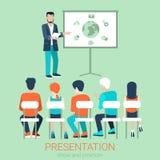 Vector flat style business presentation Stock Photo