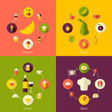 Vector flat style food background Stock Photo